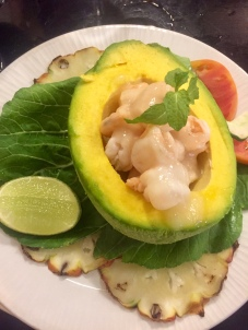 Avocado-stuffed Shrimp
